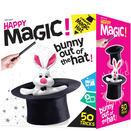 Happy Magic Collapsible Hat Magic Tricks Set - 50 Magic Tricks